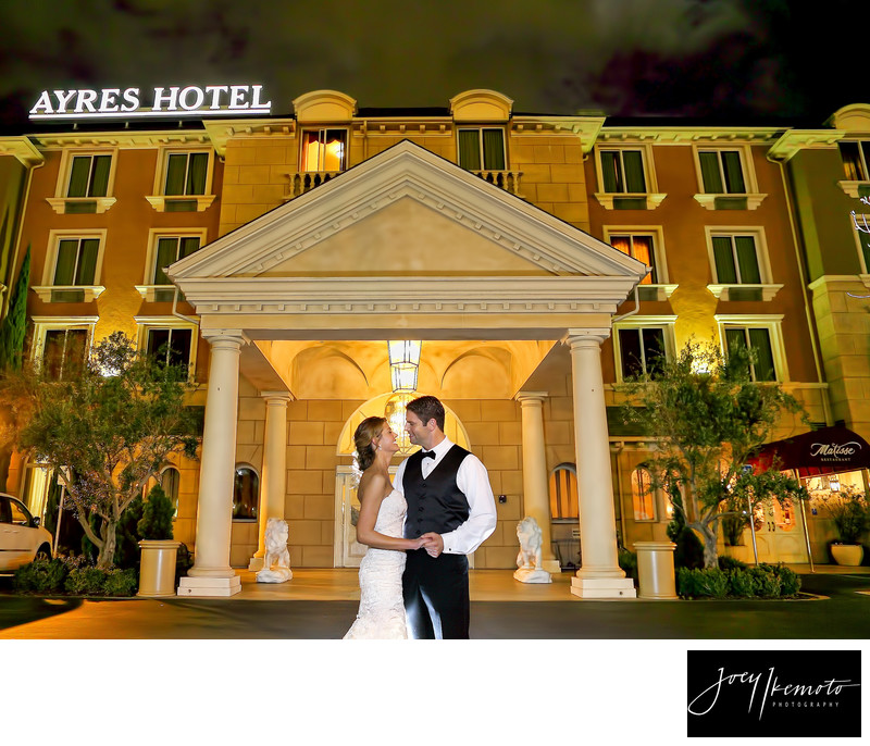 Ayres Hotel Wedding Night Photography