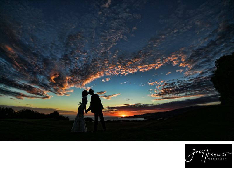 Trump International Wedding photographer sunset
