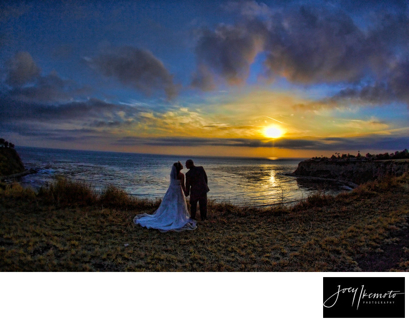 Wayfarers Chapel Wedding Sunset