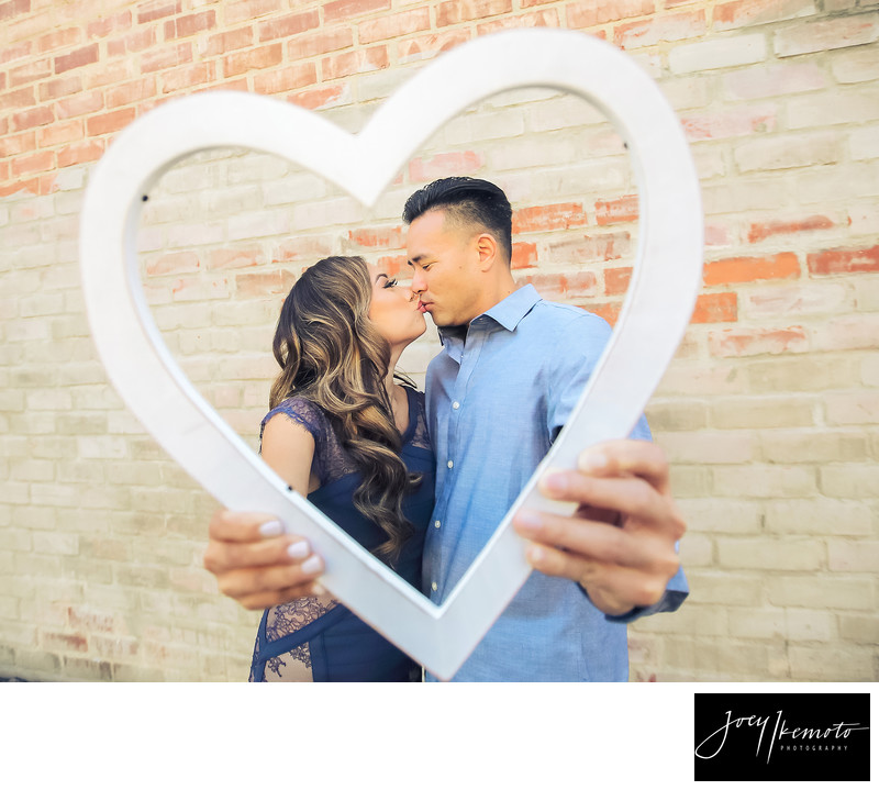 Torrance Engagement Photographer brick wall