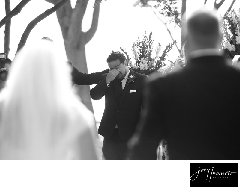 redondo beach library wedding groom emotion