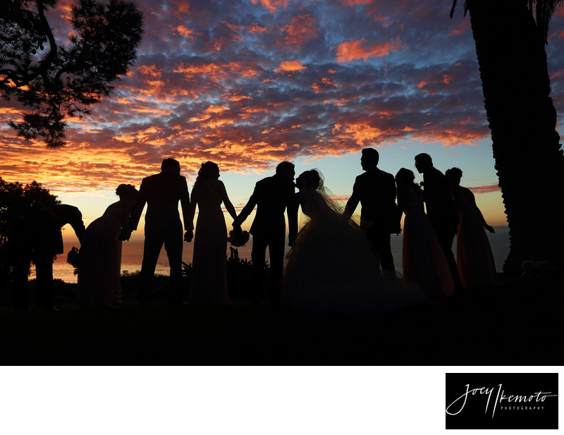 la venta inn palos verdes wedding sunset