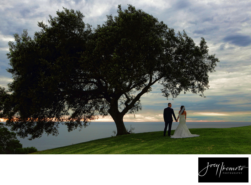 Los Verdes country club wedding sunset
