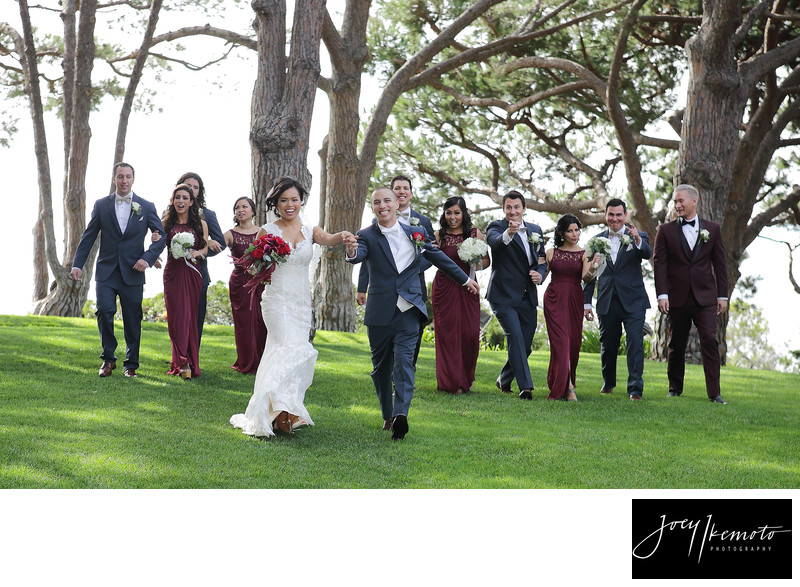 Wayfarers Chapel Bridal Party Walk