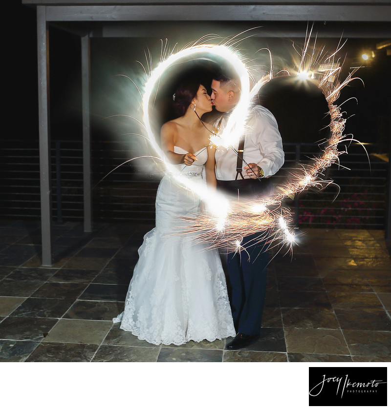 Los Verdes Country Club Heart Sparklers