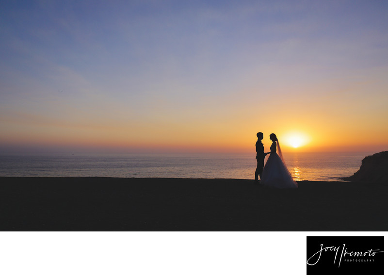 Palos Verdes Wedding Photographer Pink Sunset