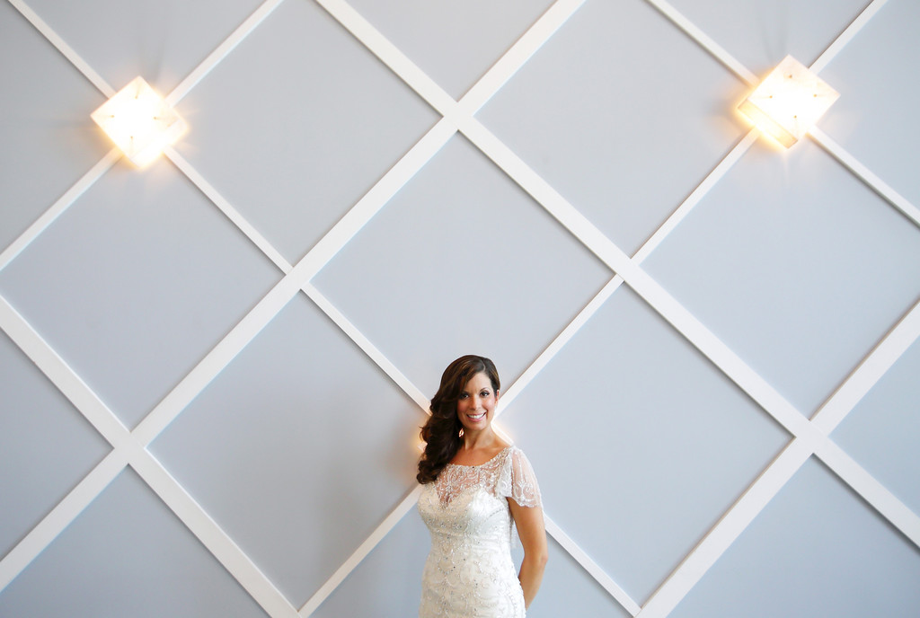 Portofino Redondo Beach Wedding Bride Alone Wall shot