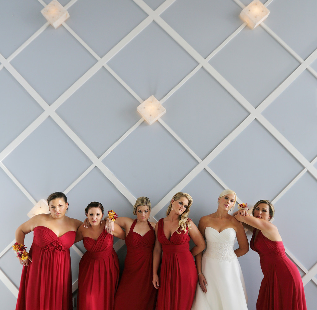 Portofino Redondo Beach Wedding Bridesmaids Pose