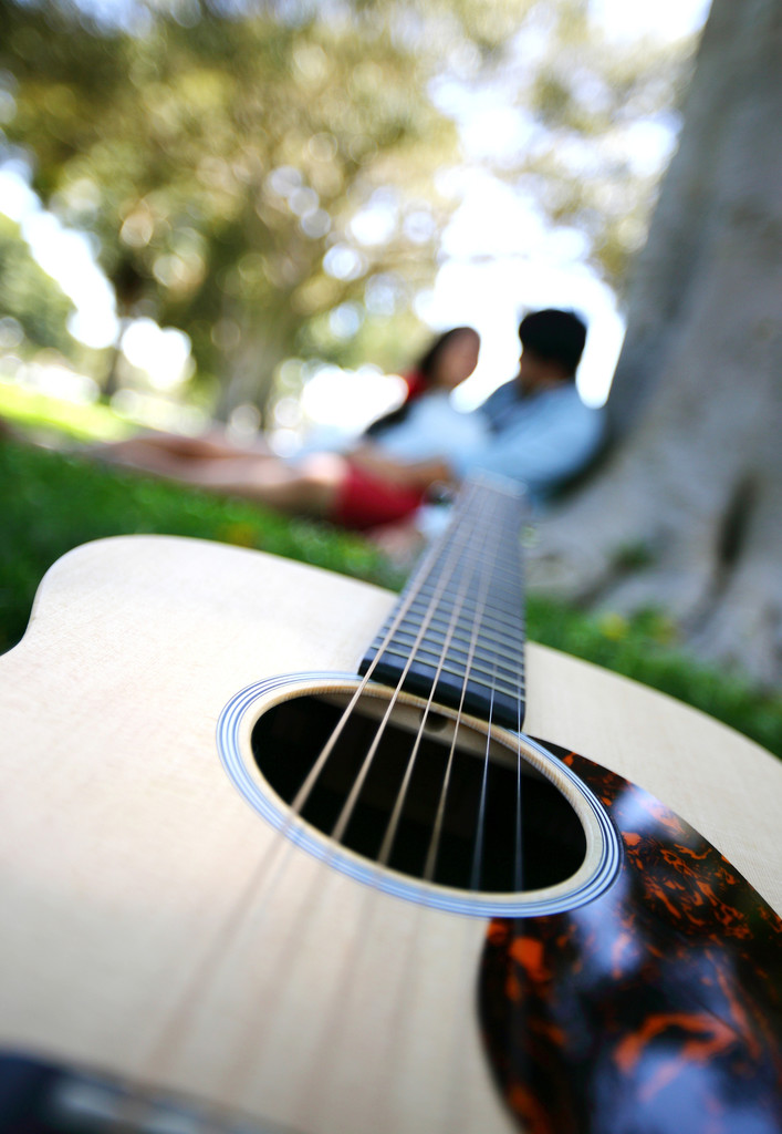 torrance engagment photography guitar