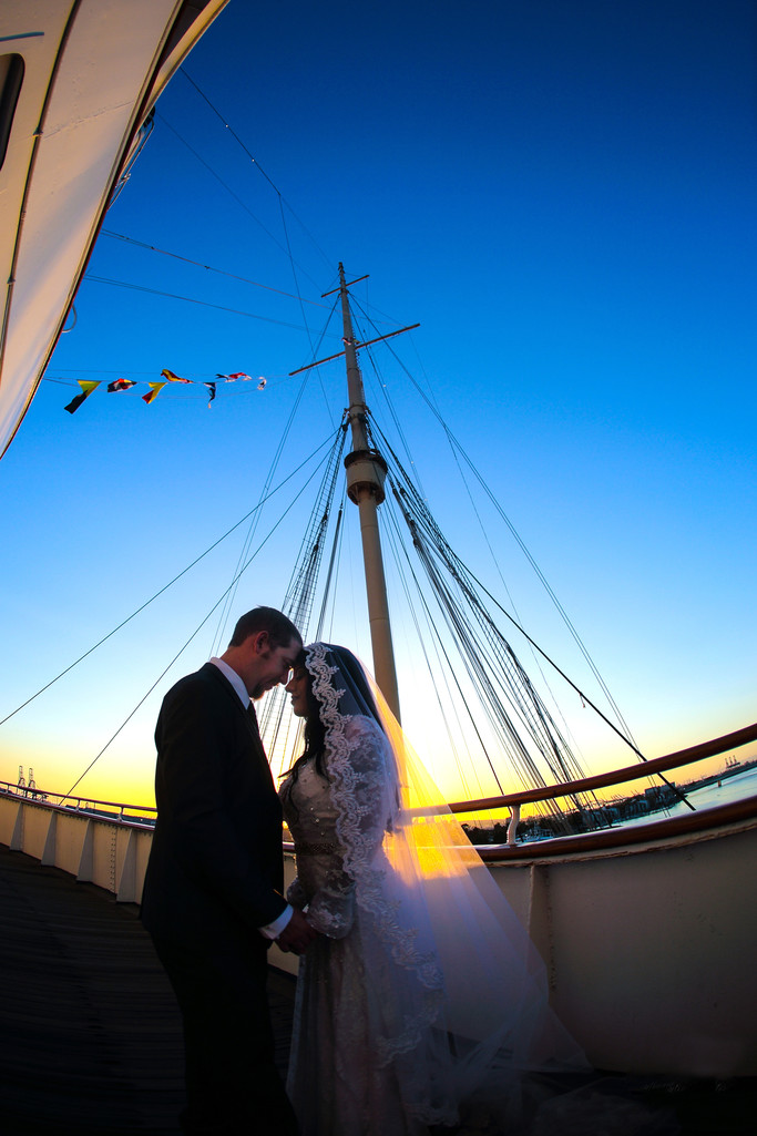 Queen Mary Wedding, Beautiful sunset