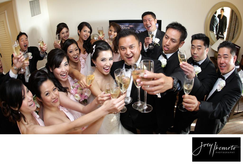 Wedding Party Toast Terrenea Resort