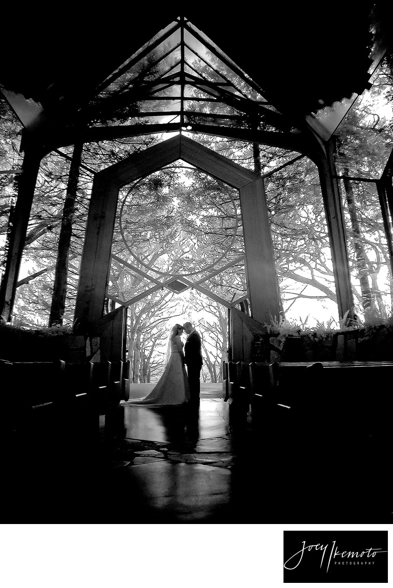 Wayfarers Chapel Wedding Infrared