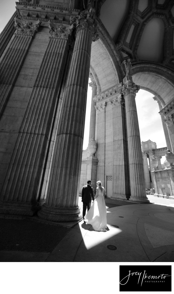 Palace of fine arts San Fransico Wedding 01