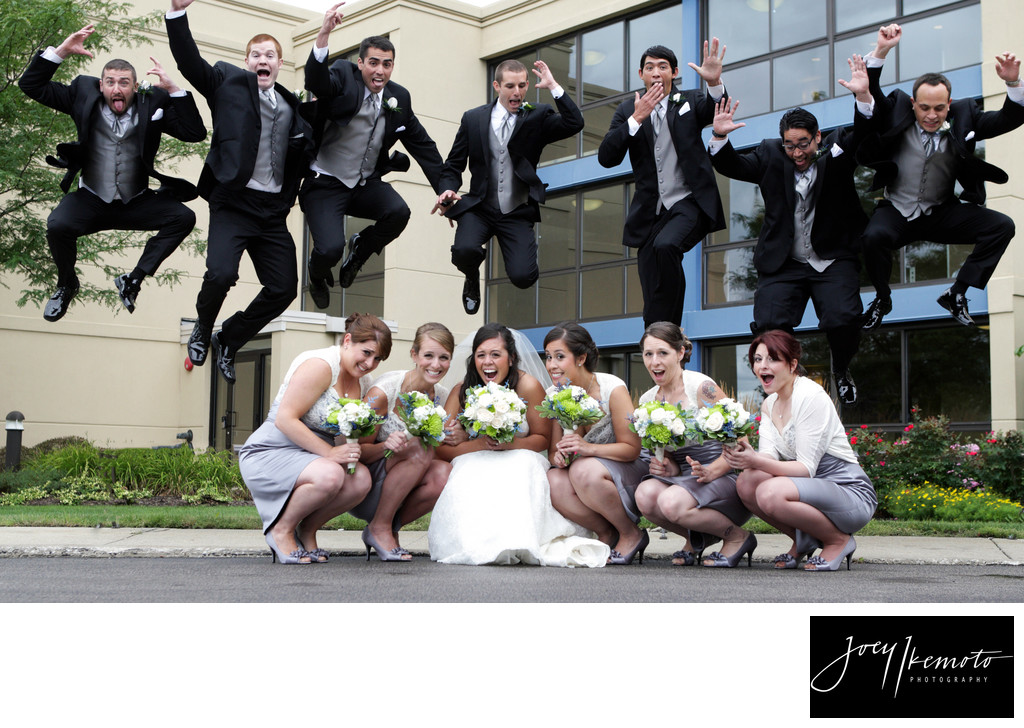 Bridal party wedding photography los angeles