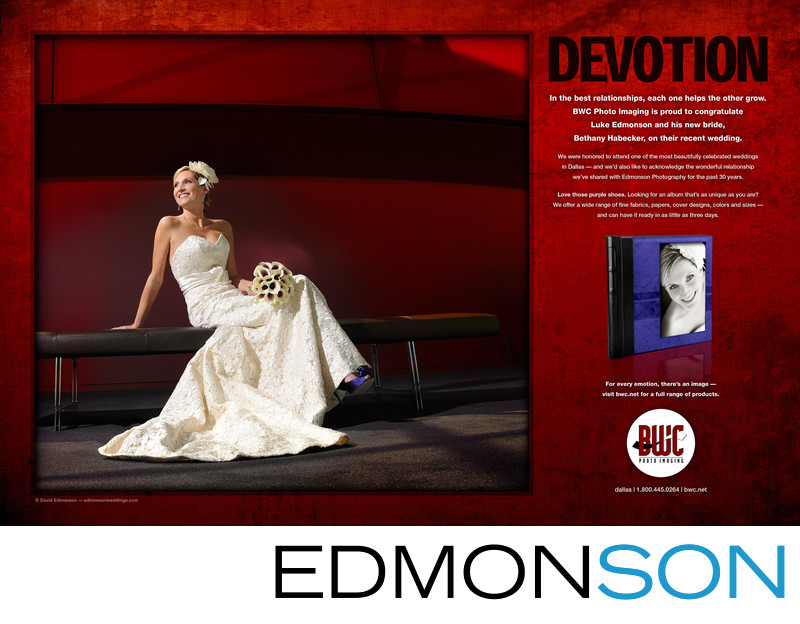 Bridal Portrait At Winspear Featured In BWC Two Page Ad