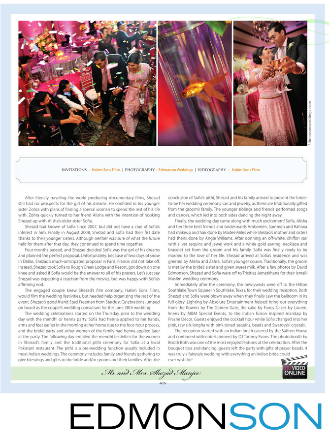 Ismaili Wedding Feature Of Hakim Sons Films Founder