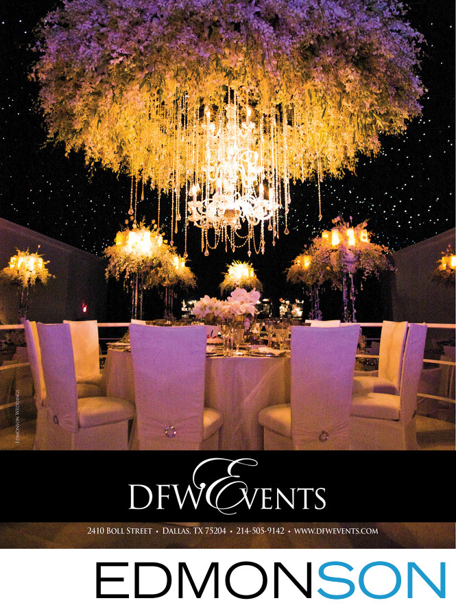 DFW Events DWeddings Magazine Ad Luxury Reception