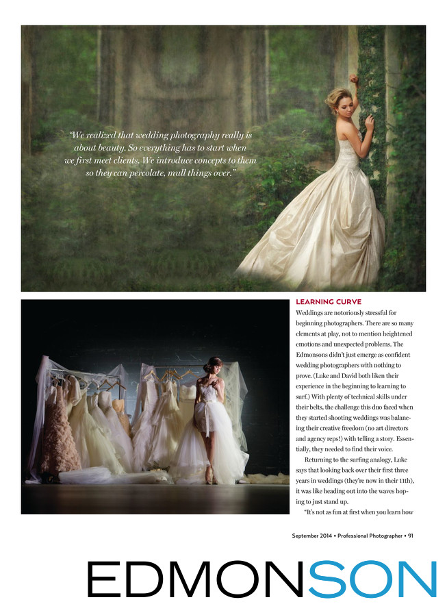 Professional Photographers Magazine About Edmonson's