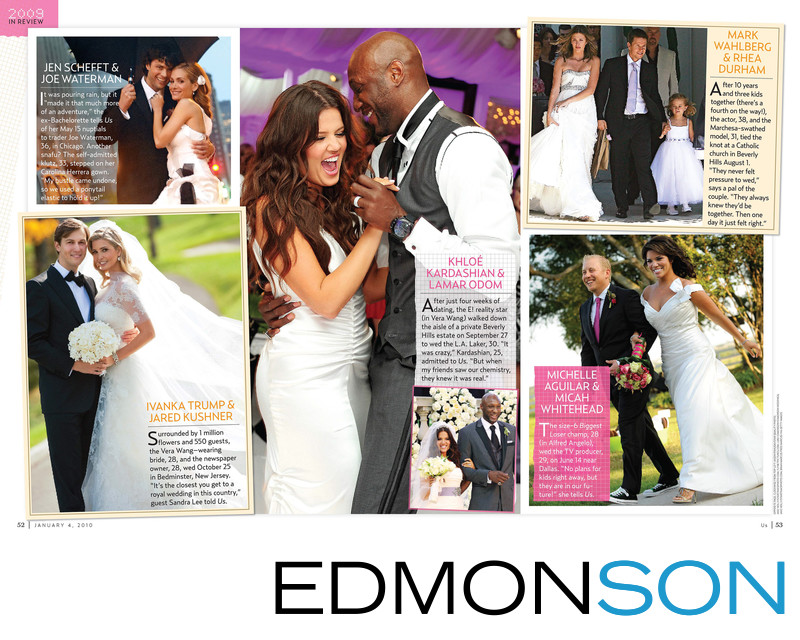 Us Weekly 2009 Weddings In Review With Biggest Loser