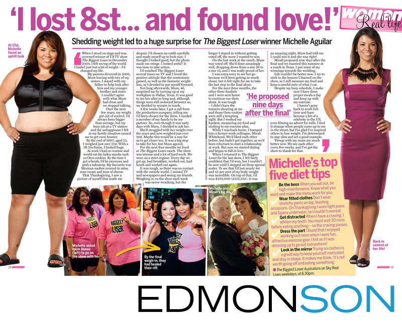 Woman Magazine Article On Michelle Aguilar