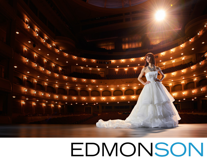 Fort Worth Editorial Bridal Portrait Featuring Miss OK