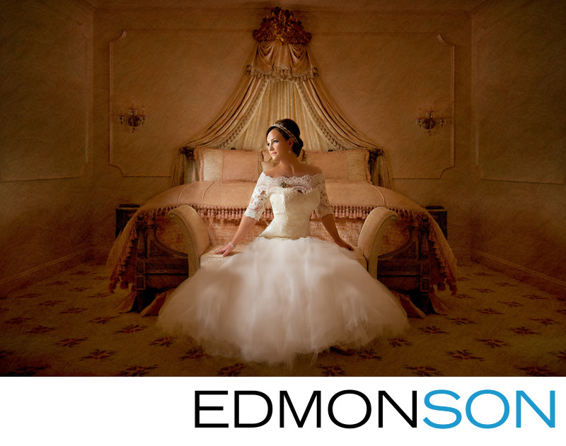 Prestonwood Bride Sitting On Lounge