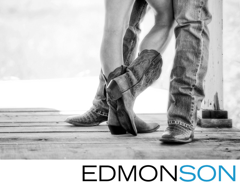 Cowboy Boots Engagement Photo Tells Their Story