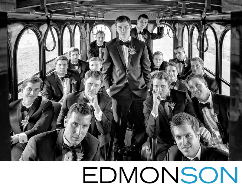 Groomsman Ride Wedding Trolley In Tulsa