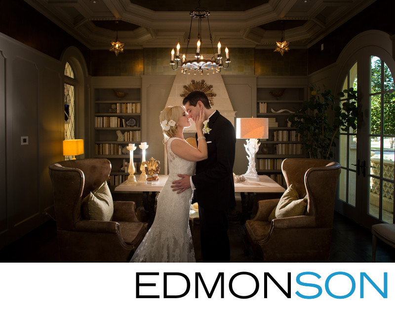 Park Cities Bride & Groom Share Tender Moment