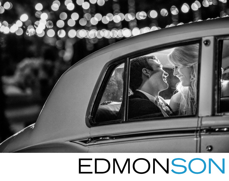 Blue Diamond Limo For DFW Wedding Couple