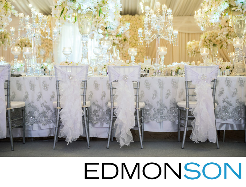 Silver Chairs Transform Private Estate Wedding