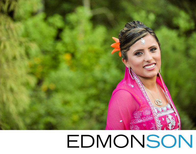 Dallas Ismaili Bride Has Wedding Portrait Made In Pink