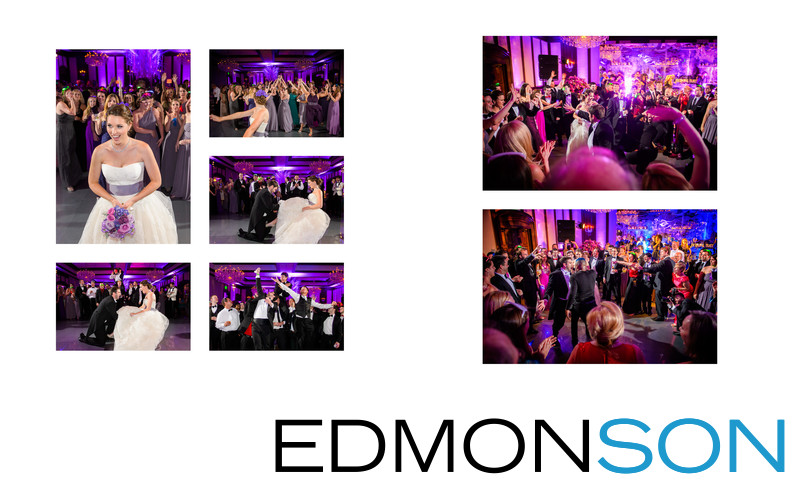 Bouquet & Garter Toss At DCC Receptoin