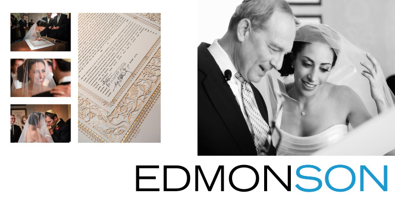 Bride Signs Ketubah At Ritz Jewish Wedding