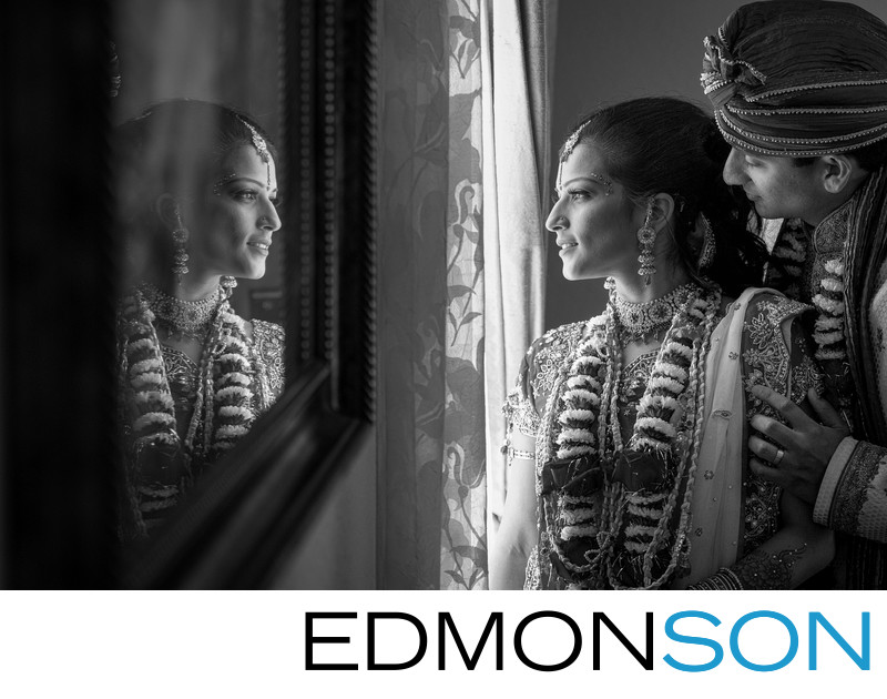 Houston Indian Wedding Photography In Black & White
