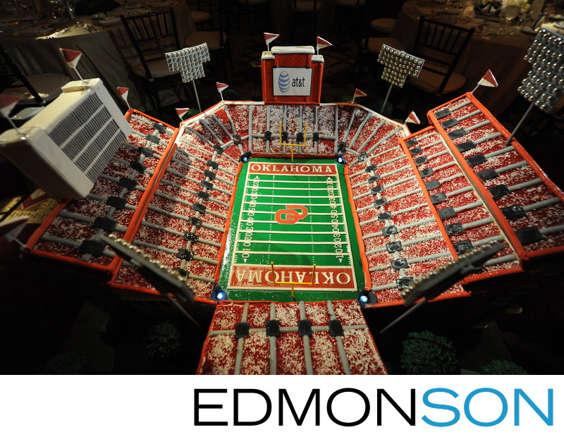 Custom Wedding Cake Looks LIke Oklahoma Stadium