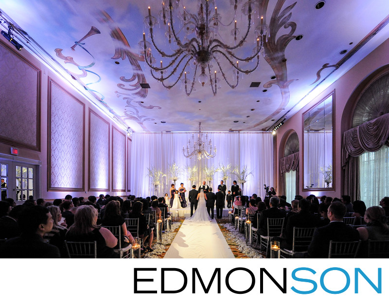 Crescent Hotel Wedding In Dallas Ballroom Ceremony