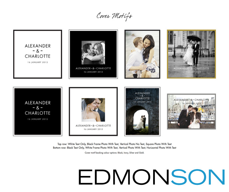 Wedding Album Cover Motifs & Customization