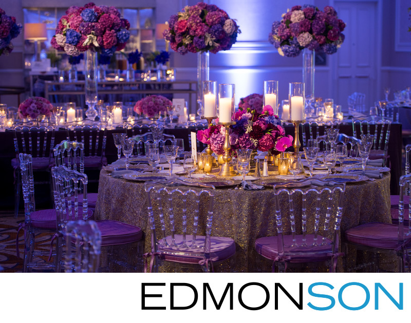 Adolphus Hotel Wedding Reception Decor