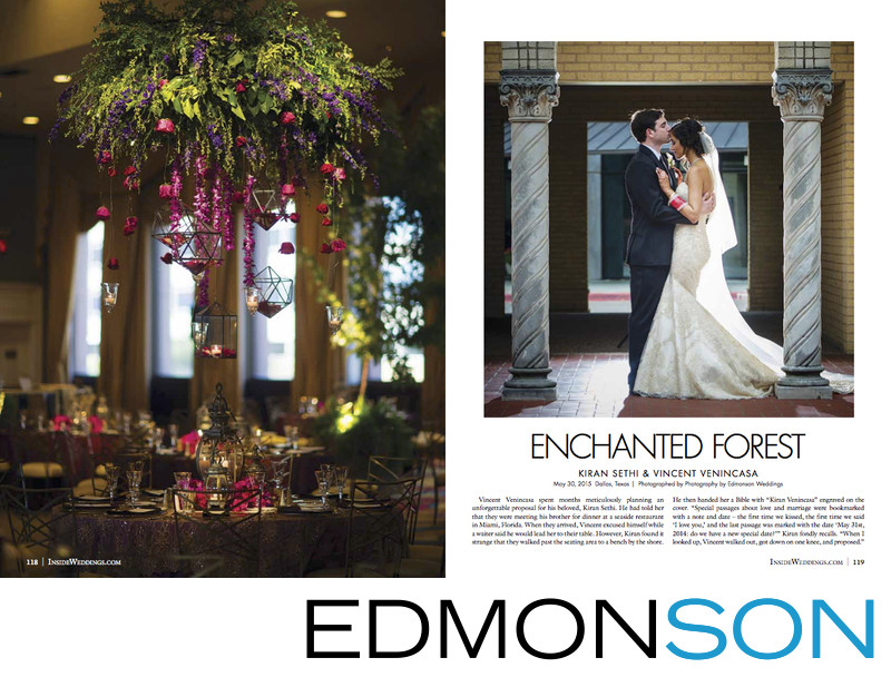 Enchanted Forest Themed Inside Weddings Feature