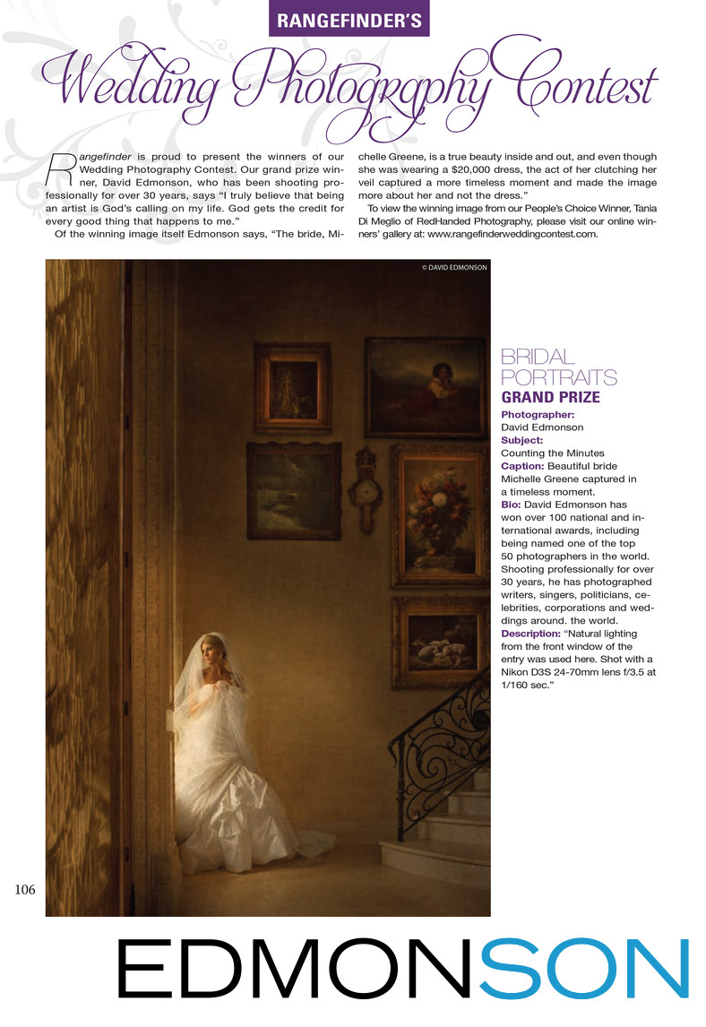 Grand Prize Winning Wedding Photo Rangefinder Magazine