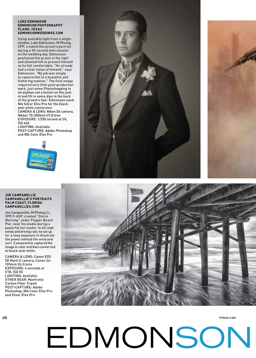 Luke Edmonson In Professional Photographer Magazine