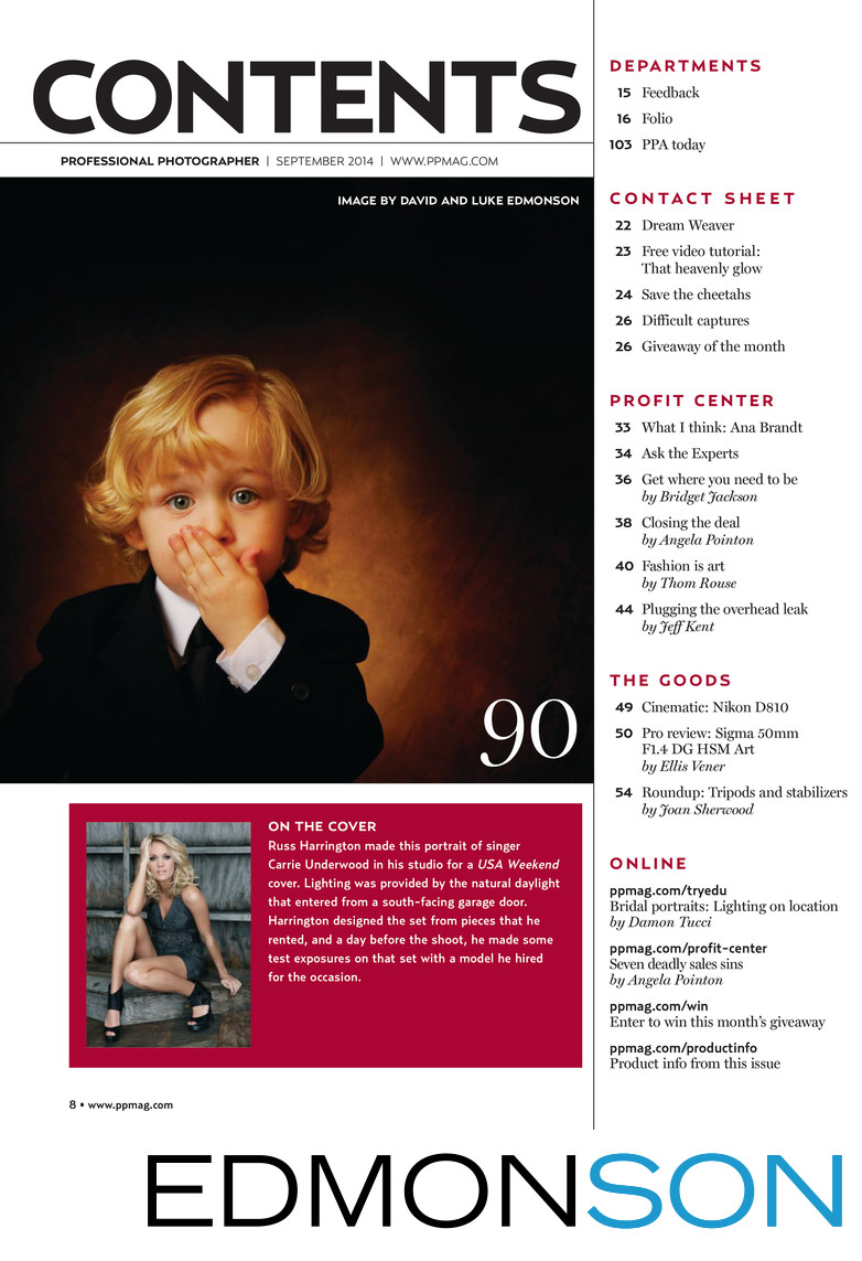 Oops! Cute Ring Bearer Featured in Photography Magazine