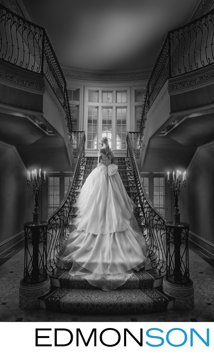 Traditional Bridal Portrait On Grand Staircase Wins
