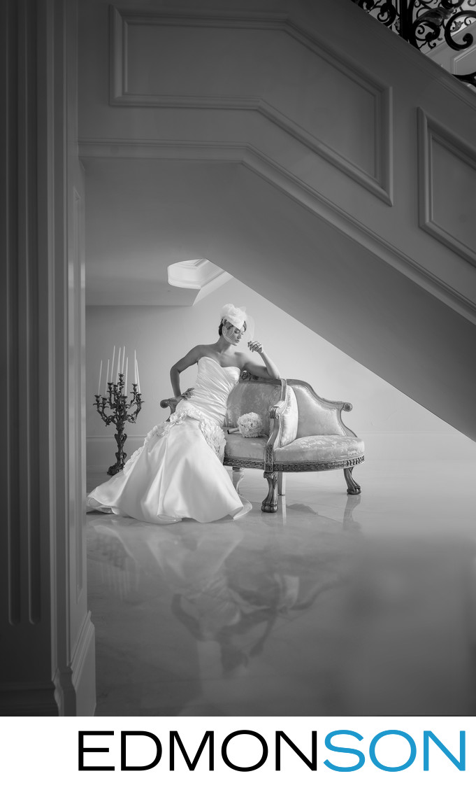 Gorgeous Classic Bridal Portrait In DFW Mansion
