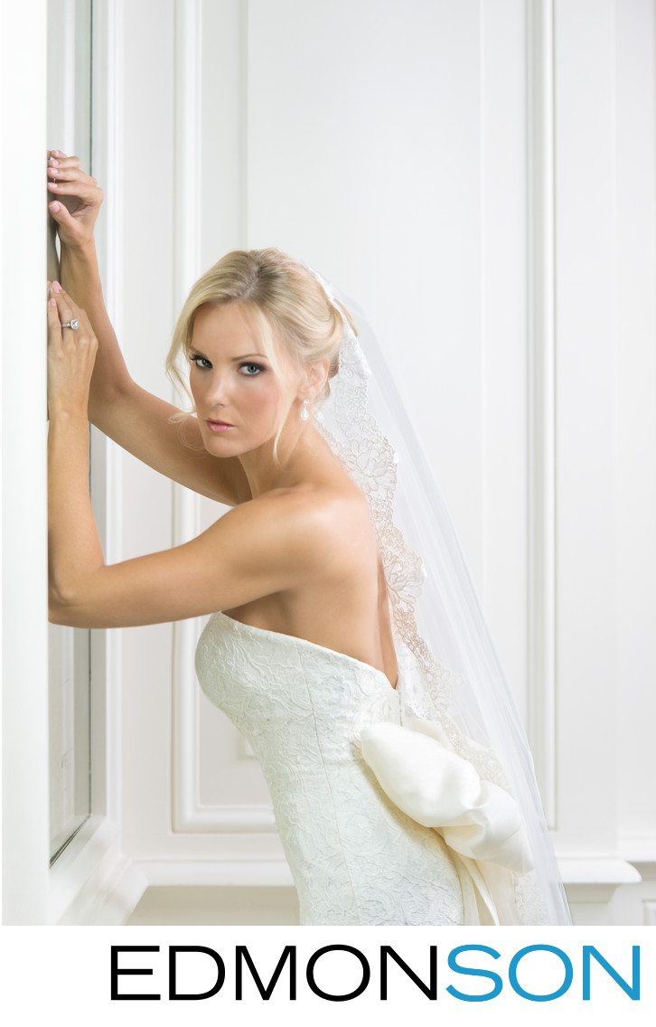 Elegant Bridal Portrait At Rosewood Crescent