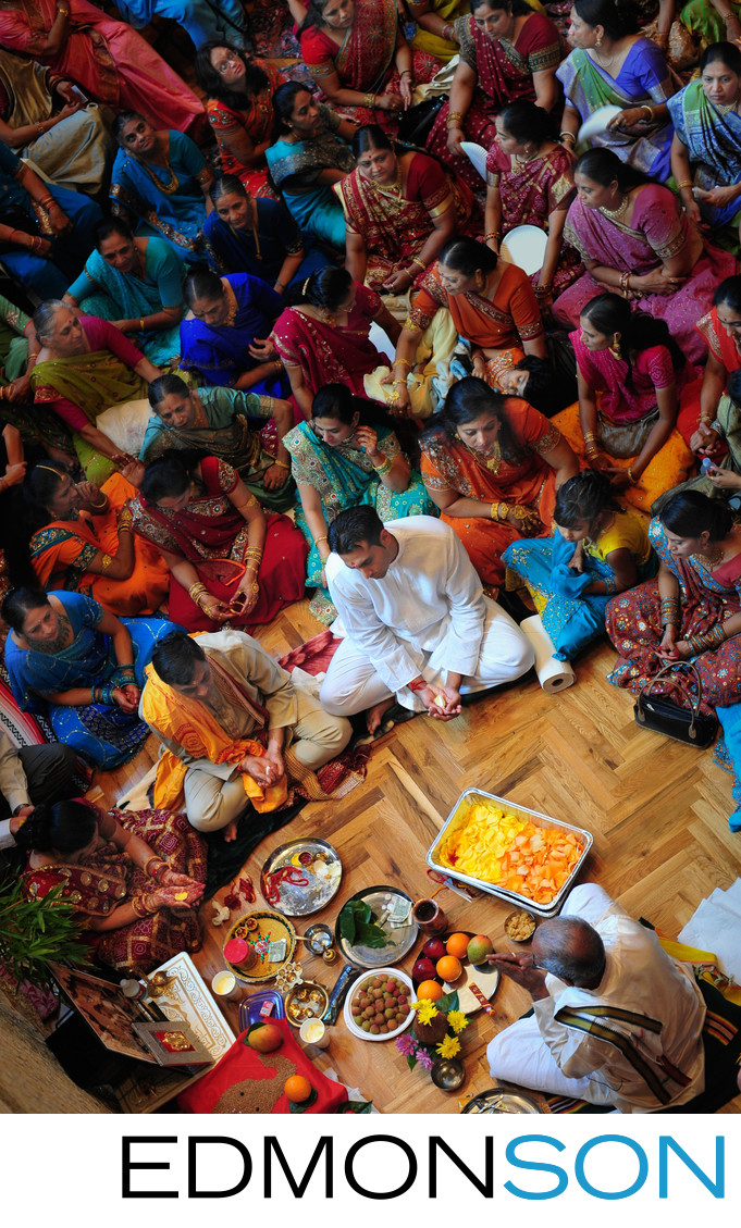 Colorful Indian Wedding Puja At Huge Texas Estate