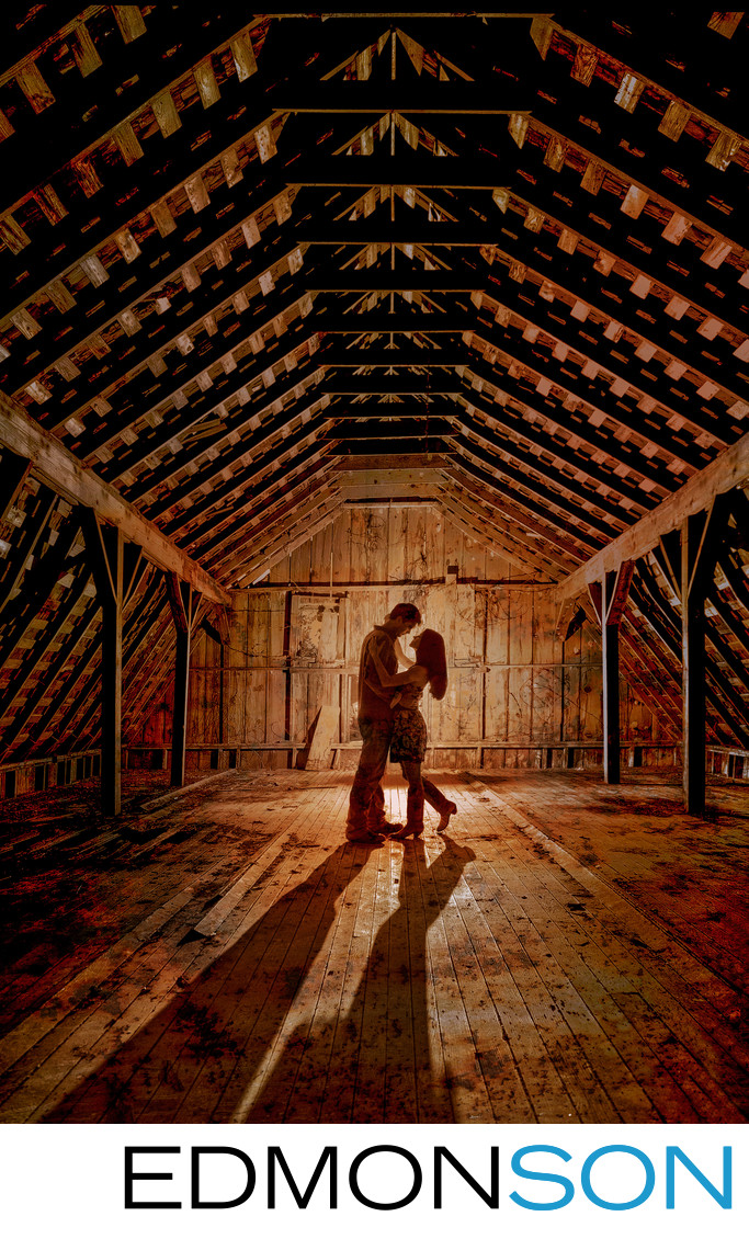 Backlit Texas Engagement Shoot For Rustic Wedding