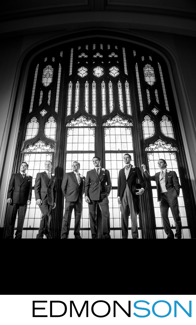 Dramatic Photo Of Groomsmen At First United Methodist