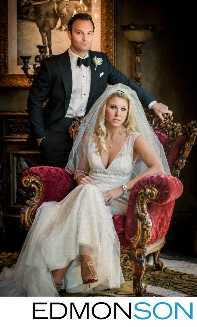 Wedding Portrait Of Dallas Couple At Hotel ZaZa
